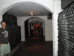 Die Bergkelder wine bottle decor